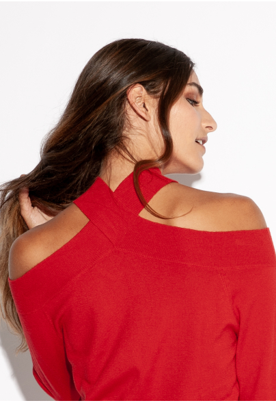 PULL MARLY rouge