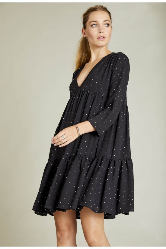 Dress ROCK black and silver